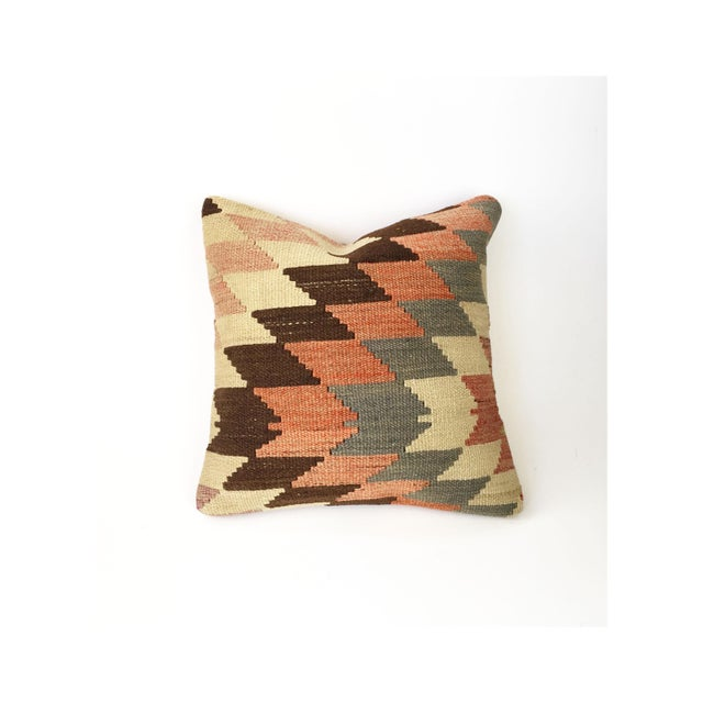 Vintage Kilim Square Pillowcase - Image 2 of 5