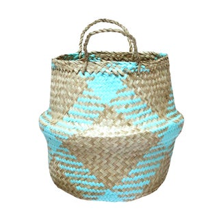 "Brunna ""Bunnies"" Pastel Blue Easter Basket"