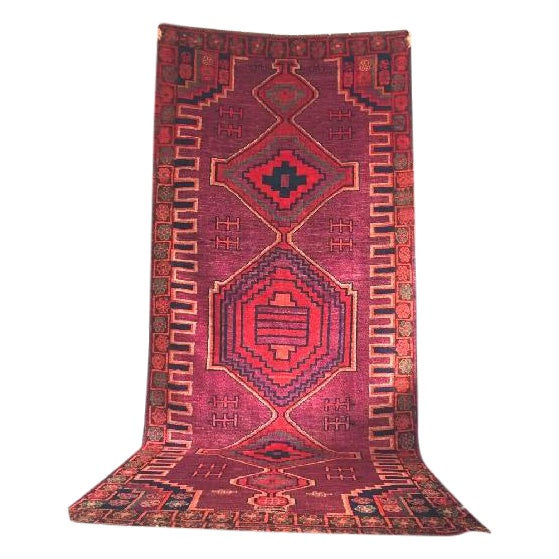 """Hand-Knotted Persian Rug - 4'3"""" X 10'6"""" - Image 1 of 5"""