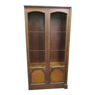 Mid-Century Wire Netted Doors Bookcases Cabinet