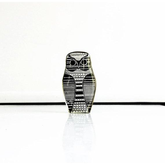 Vintage Abraham Palatnik Owl Figurine - Image 2 of 5