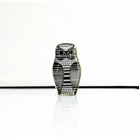 Image of Vintage Abraham Palatnik Owl Figurine