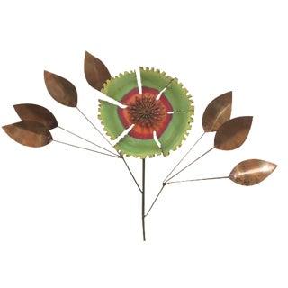 C. Jeré Copper Enamel Flower with Lucite Base