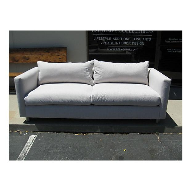 Mid-Century Modern Canvas Sofa - Image 2 of 8
