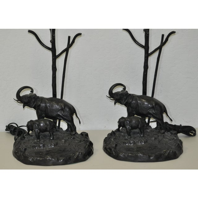 Italian Elephant & Calf Table Lamps - A Pair - Image 3 of 5