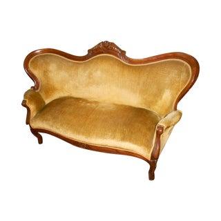 Antique Victorian Velvet Loveseat
