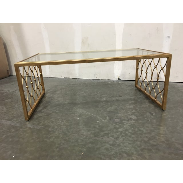 Ethan Allen Coffee Table Glass Top: Ethan Allen Hawthorne Glass Top Coffee Table