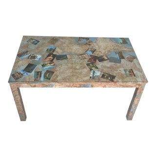 Parsons Custom Decoupage Table Desk