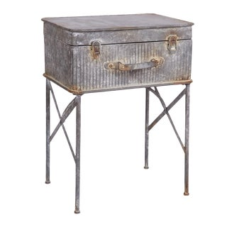 Metal Suitcase Side Table