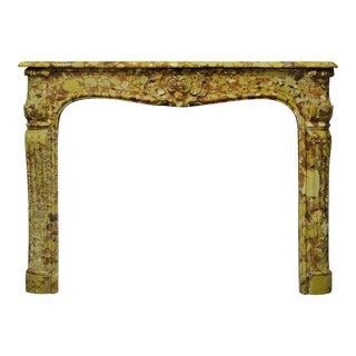 18th Century Louis XV - XVI Breche D' Allepe Fireplace Mantel