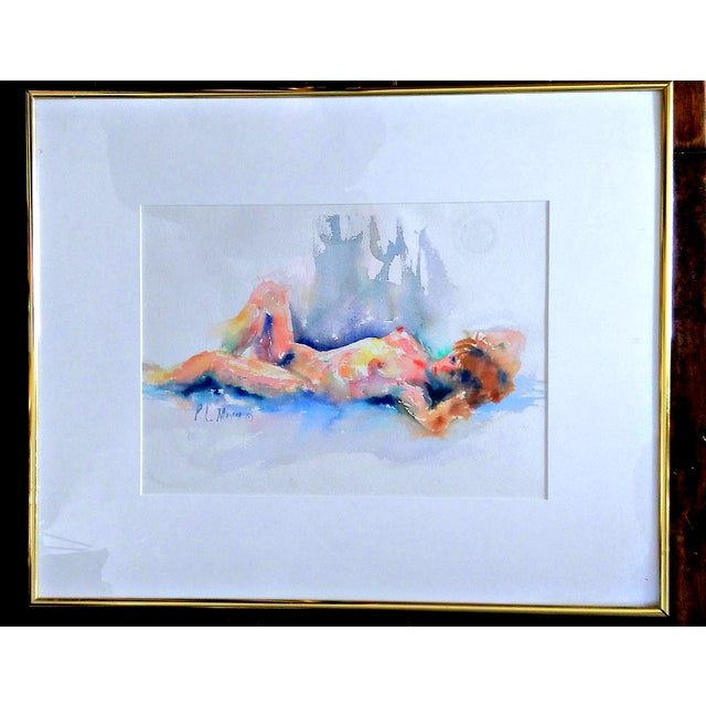 Image of P.L. Meyer Nude Watercolor Paintings- A Pair