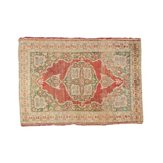 "Antique Silk Kaisary Rug Mat - 1'9"" X 2'6"""