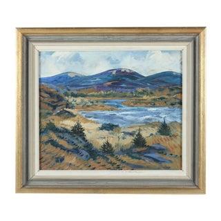 Framed Horsen Impressionist Oil Painting