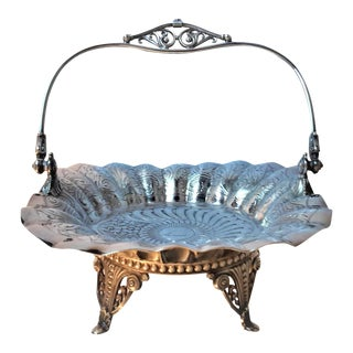 Victorian Silverplate Bride's Basket