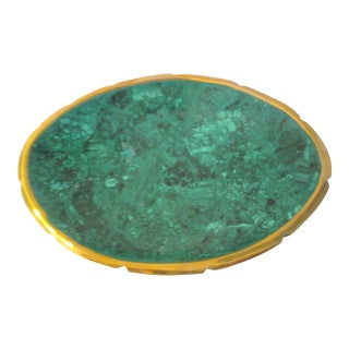 Modern Malachite & Brass Bowl