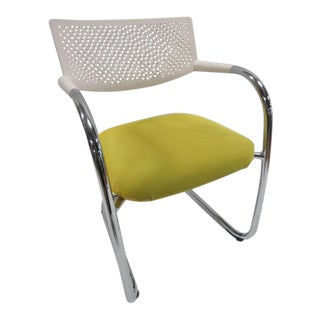 White & Yellow Vitra Visasoft Visavis 2 Chair