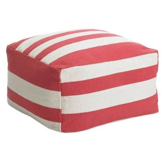 West Elm Gradated Stripe Pouf