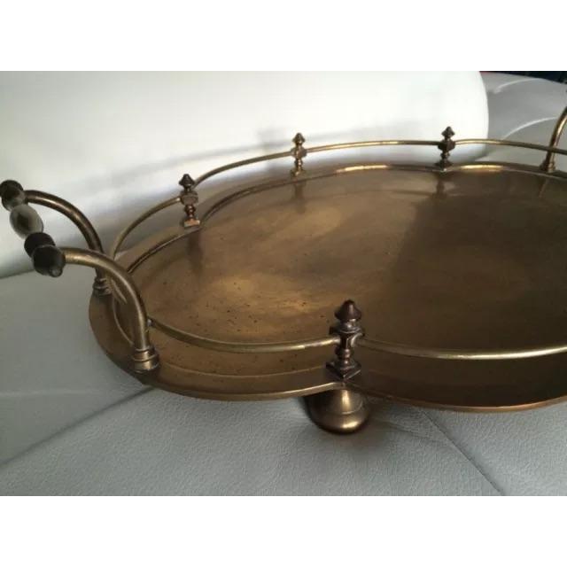 Image of Vintage Large Brass Handled Bar/Tea Tray