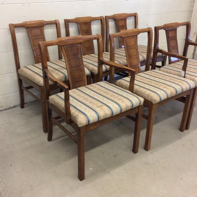 Mid-Century Modern Walnut Low Back Dining Chairs