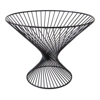 Mid-Century Wire Fruit Basket with Hourglass Shape
