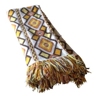 Large Vintage Tribal Print Throw