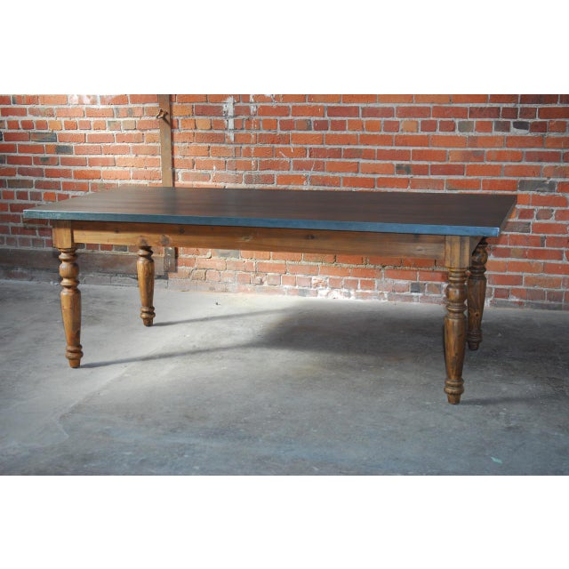 Zinc Topped Farm Table - Image 11 of 11