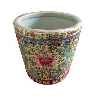 Polychrome Chinese Cache Pot