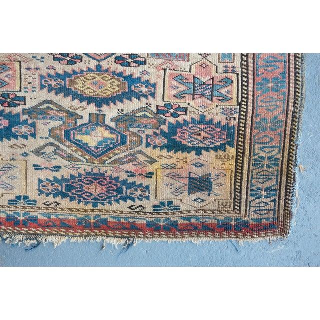 "Antique Caucasian Kuba Rug -- 2'11"" x 3'7"" - Image 6 of 7"