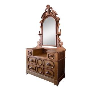 Vintage Victorian Style Wooden Dresser