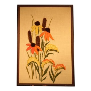 Mid-Century Flower Embroidery