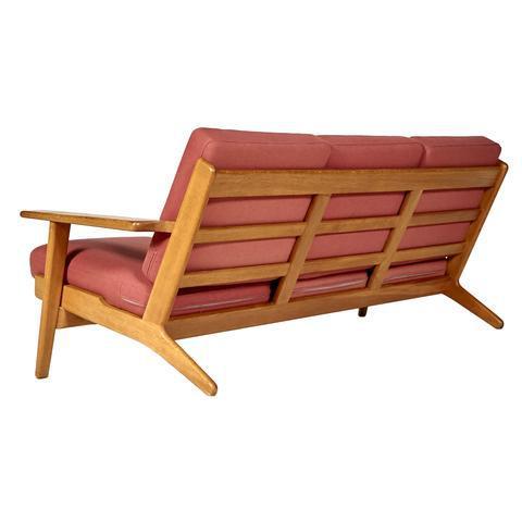 Hans J. Wegner for GETAMA Three Seat Sofa in Oak GE 290 - Image 3 of 10