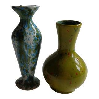 1970s Handmade Small Vases - a Groovy Pair