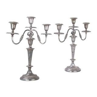 Friedman Silver-Plated Candleholders - A Pair