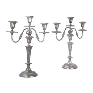 Friedman Silver-Plated Candleholders - A Pair