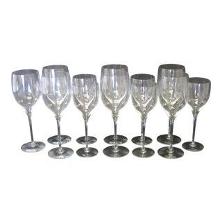 Set of Orrefors Illusion Goblets & Wine Glasses