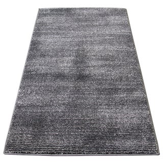 Black and Gray Striped Rug - 2′8″ × 5′