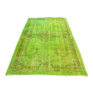 Vintage Green Overdyed Rug - 5′1″ × 8′1″