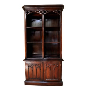 Vintage English Gothic-Style Bookcase