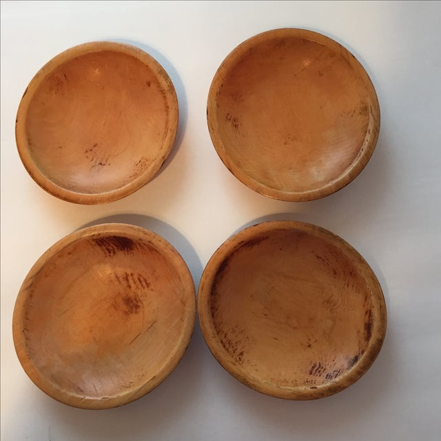 Primitive Wood Bowls - Set of 4 - Image 2 of 11