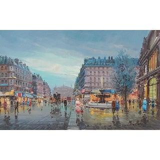 Maestretti's Rue De l'Opera Original Oil Painting