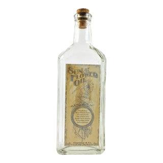 Vintage Style Sun Flower Oil Remedy Bottle