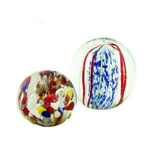 Art Glass Paperweights - A Pair