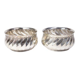 Antique French Silver Wine Coasters - Pair
