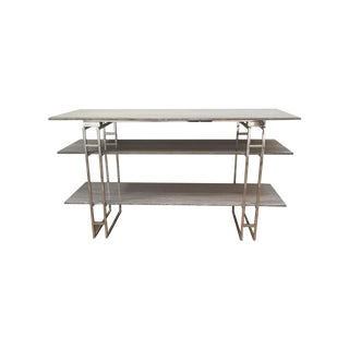 Tusk Console, Stainless Steel and Stone