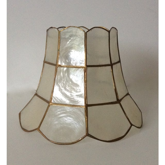 1960's Capiz Shell Scalloped Clip-On Shade - Image 7 of 7