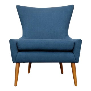 "Navy Blue Mid-Century ""Mia"" Chair"