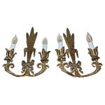 Image of Brass Wheat Sconces- A Pair