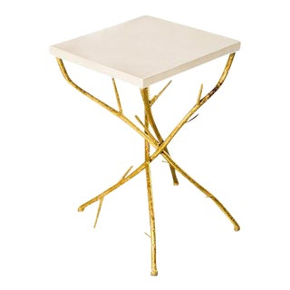 Maggy Branch Side Table With Gold Legs