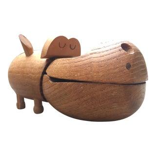 Zoo Line Wooden Hippopotomus Box