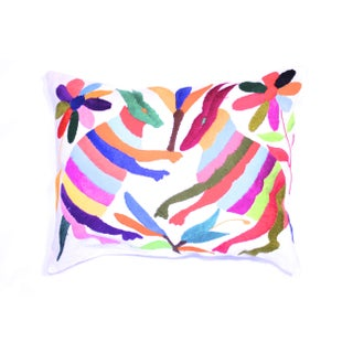 Multicolored Handwoven Otomi Pillow